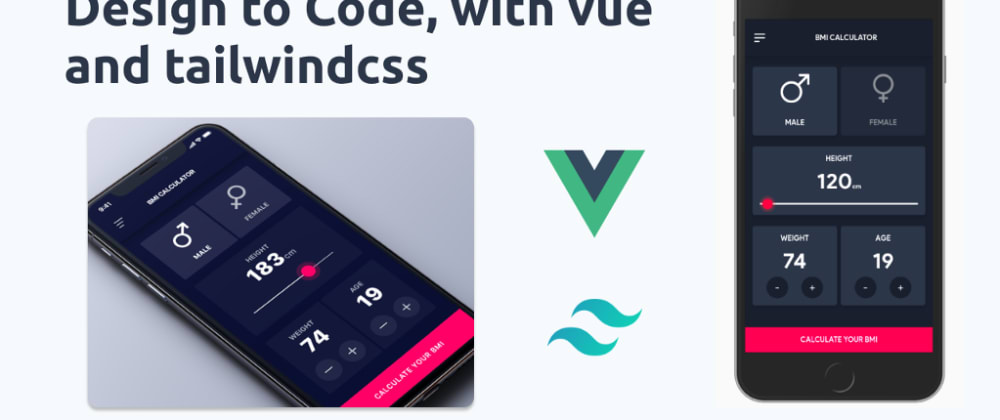 Cover image for Let's code a dribble design with Vue.js & Tailwindcss (Working demo)—Part 1 of 2