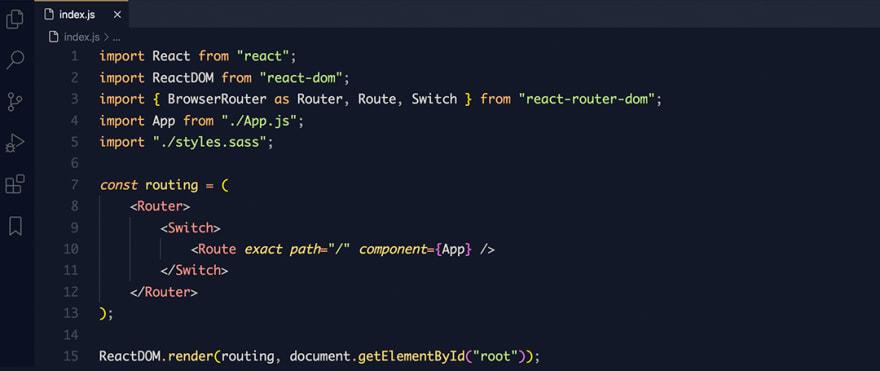 React code snippet with the Mayukai - Sunset  theme