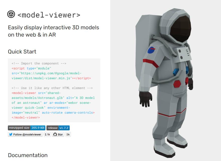 <model-viewer>