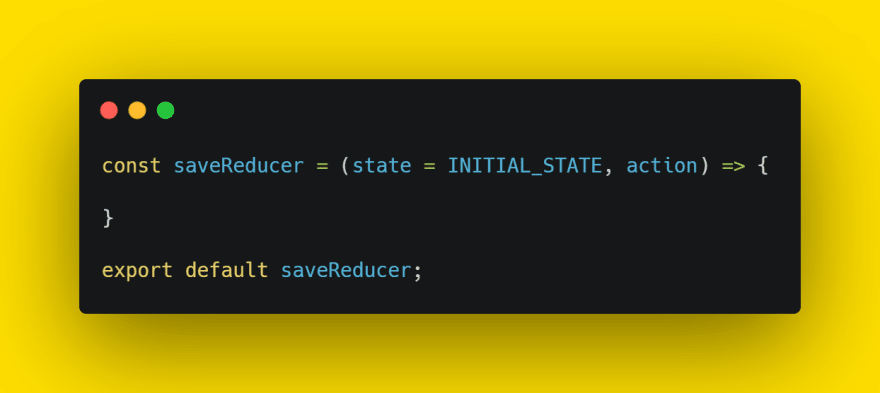 save reducer function