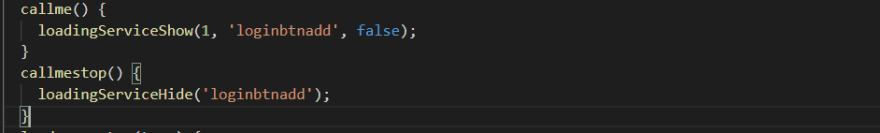 function implementation in ts code file