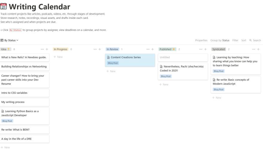 screenshot of said notion board