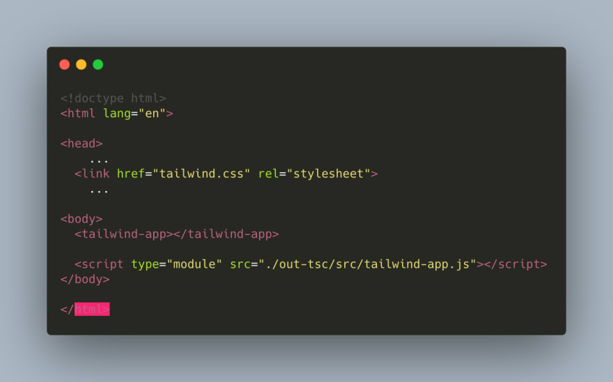 A simple setup to use LitElement with tailwindcss for small projects