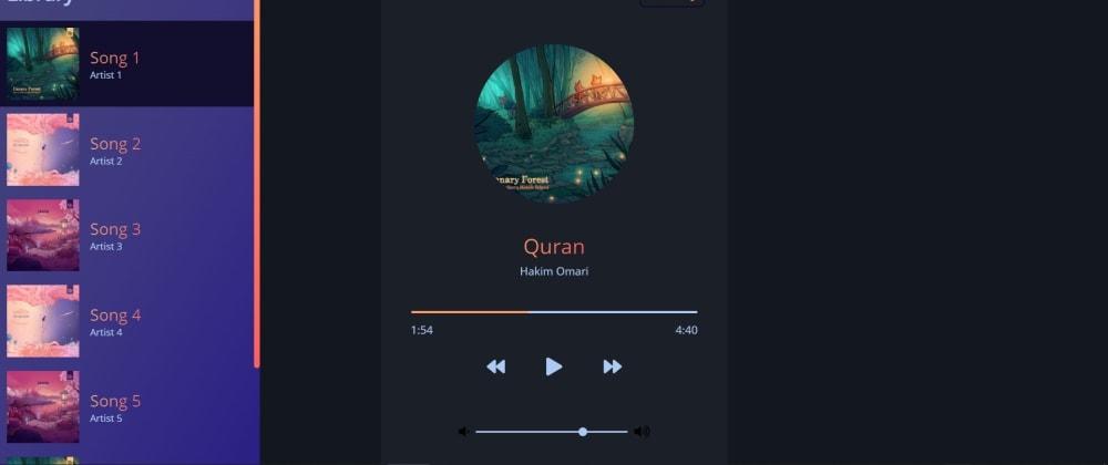 Cover image for FullStack Vanilla JS Music Player