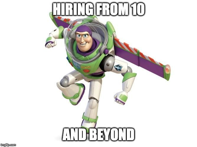 Hiring from 10... and beyond