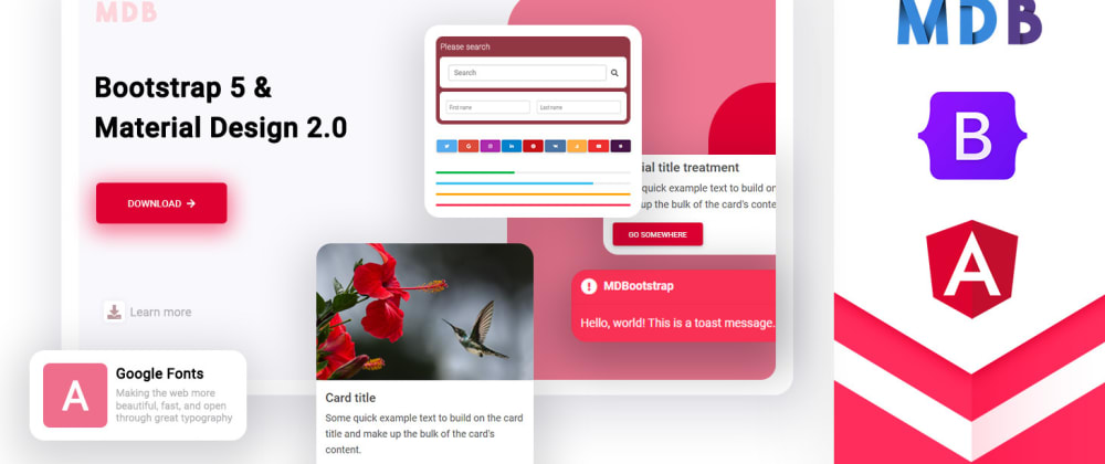 Cover image for Bootstrap 5 + Angular UI Kit