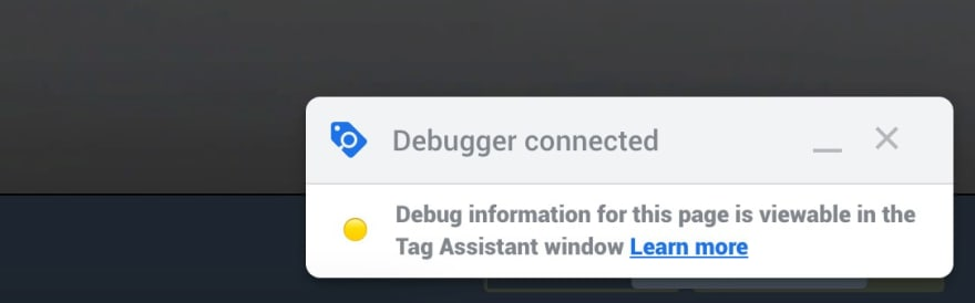 GTM Debugger Connected
