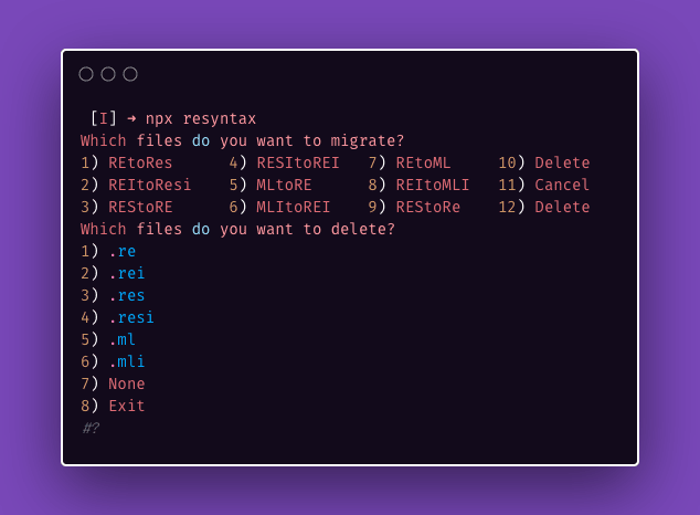 run npx syntax in your terminal
