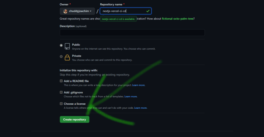 \click on Create Repository