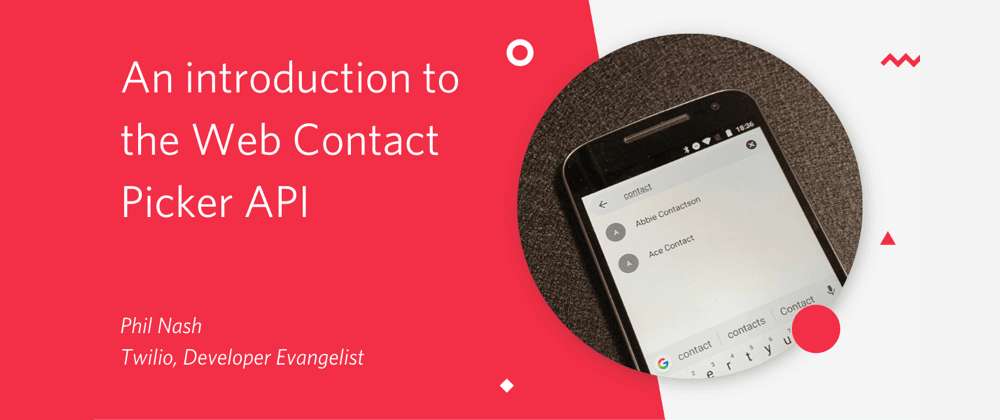 Cover image for An introduction to the Web Contact Picker API