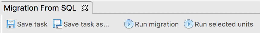 Choose Run migration from the toolbar