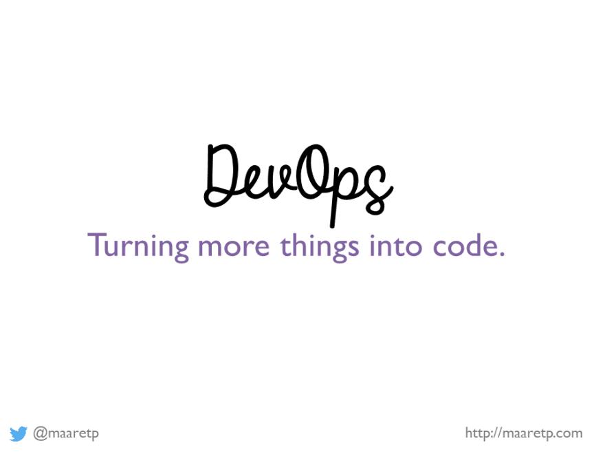 DevOps turns things to code