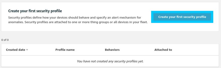 Device Defender Security Profile Create