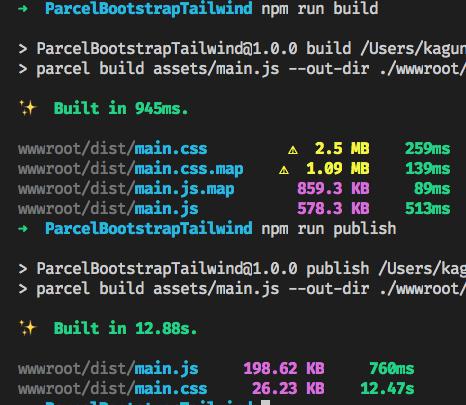 """alt=""""parcel build and publish test output"""""""
