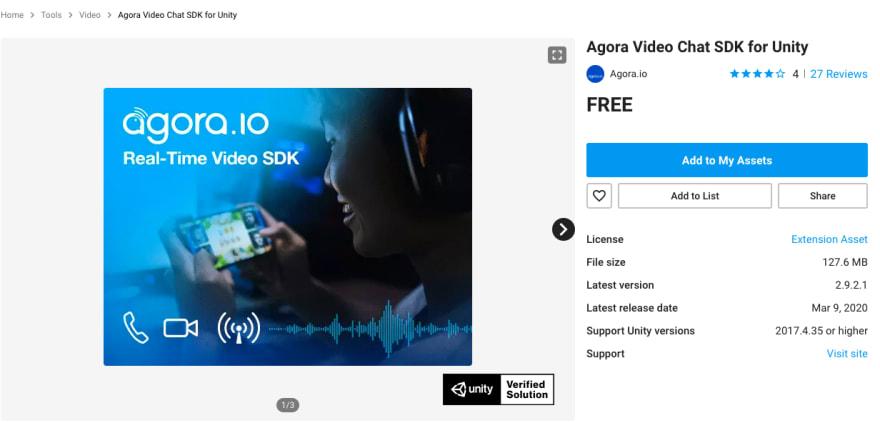 Video SDK on Asset Store