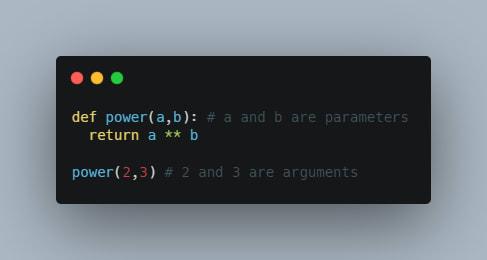 parameters vs arguments