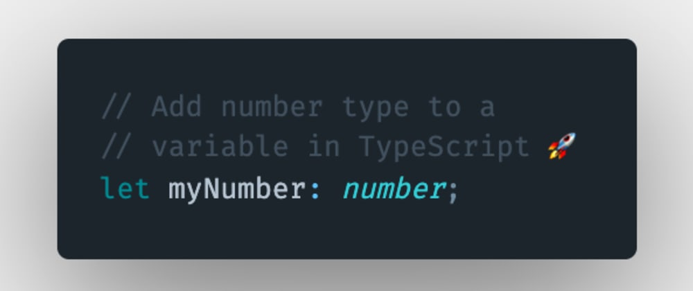 Cover image for How to add a number type annotation to a variable or a constant in TypeScript?