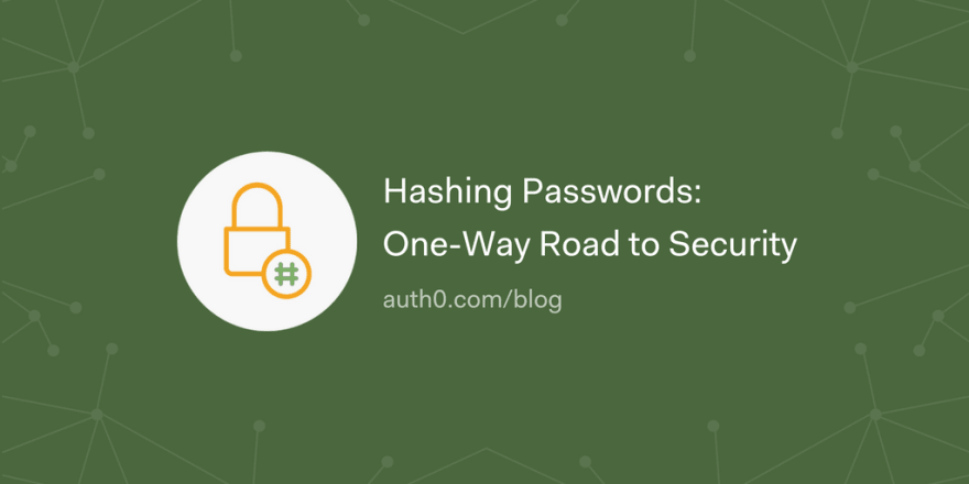 Hashing Passwords: One-Way Road to Security