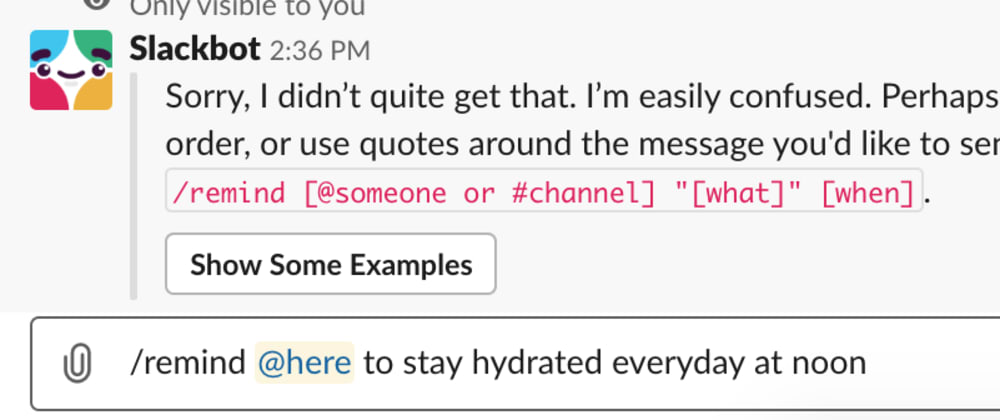 Cover image for The interesting case of the `/remind` command in slack