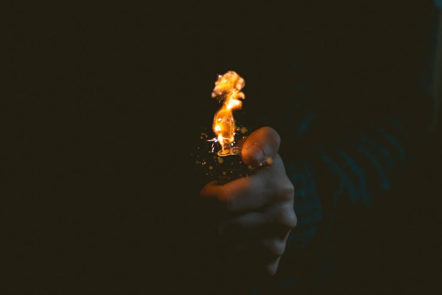 Image of flame from a lighter