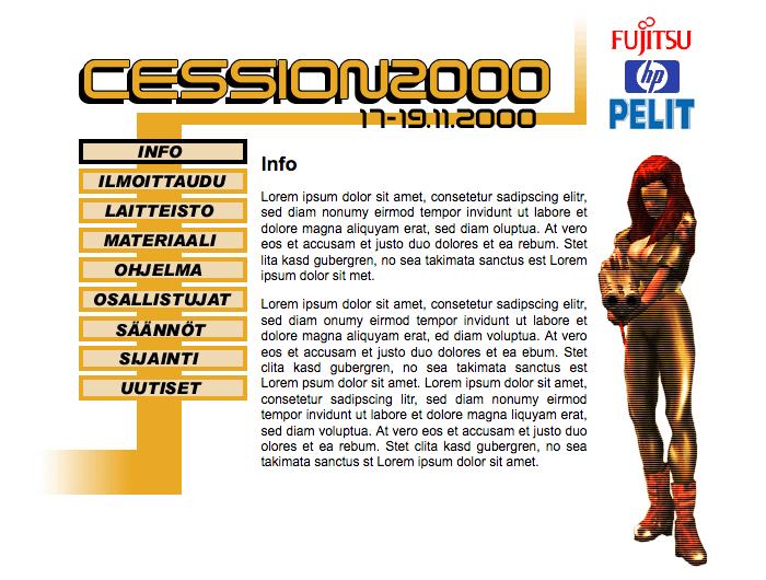 Cession2000 LAN website