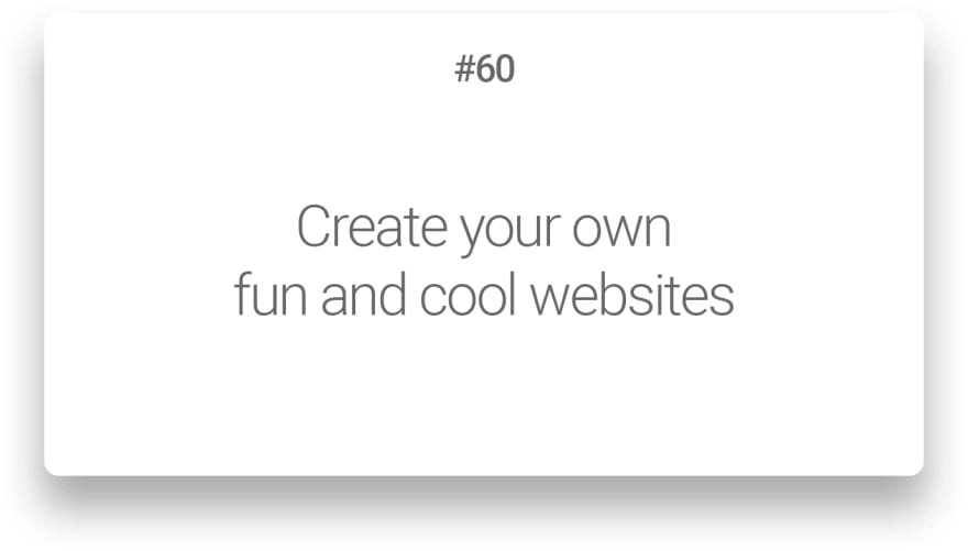 Create your own fun and cool websites