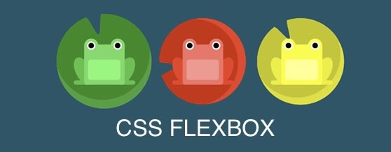 Flexbox Froggy frogs sitting on lily pads