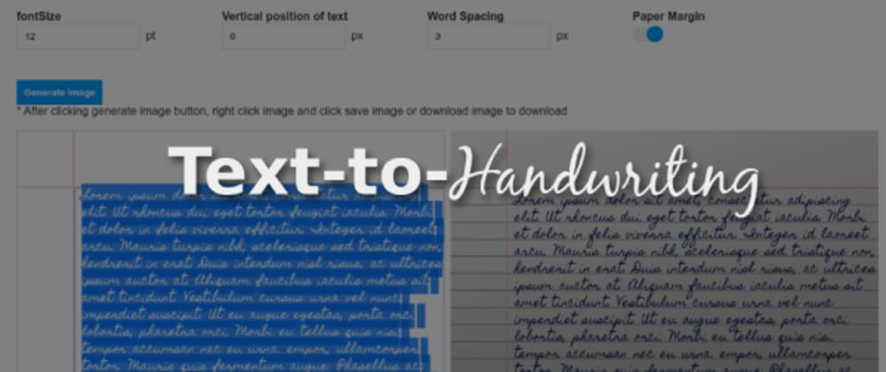 Cover image for I made a Text-to-handwriting tool to write my college assignments for me 🤓