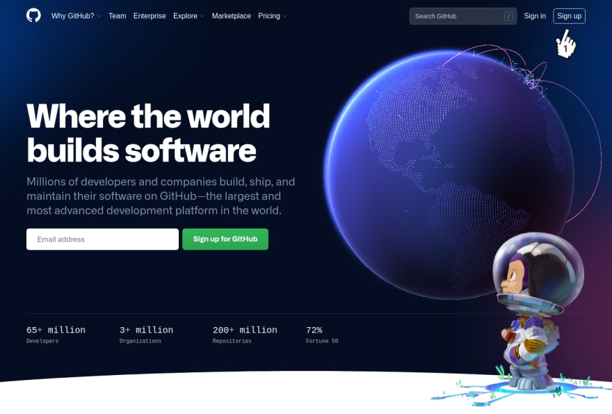 GitHub - Initial page