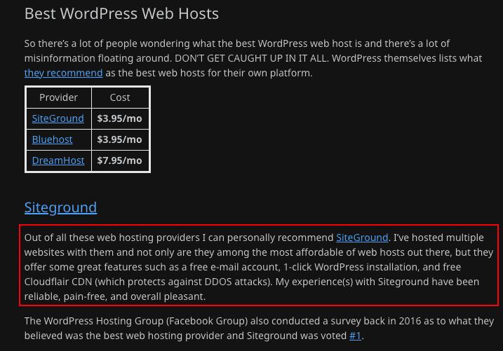 best web hosting Reddit for 2021