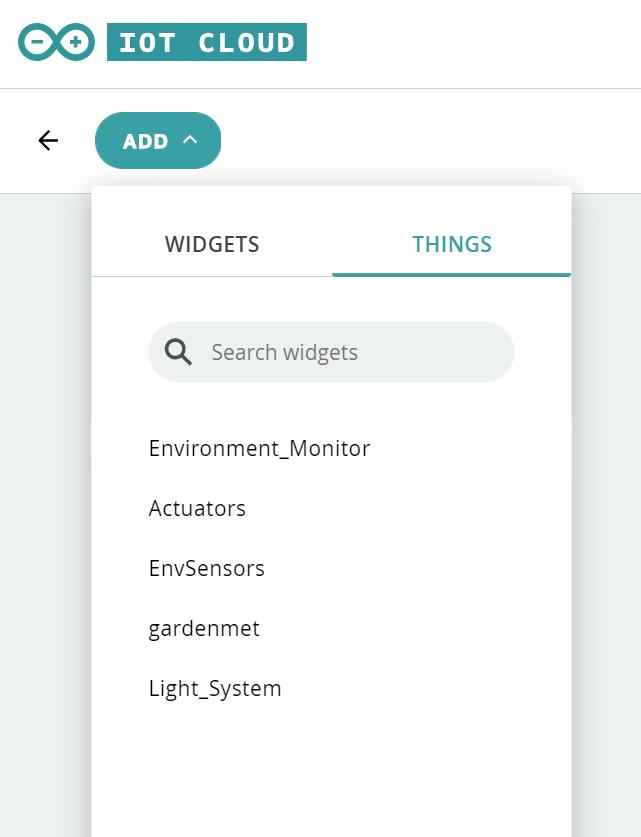 Thing Widget
