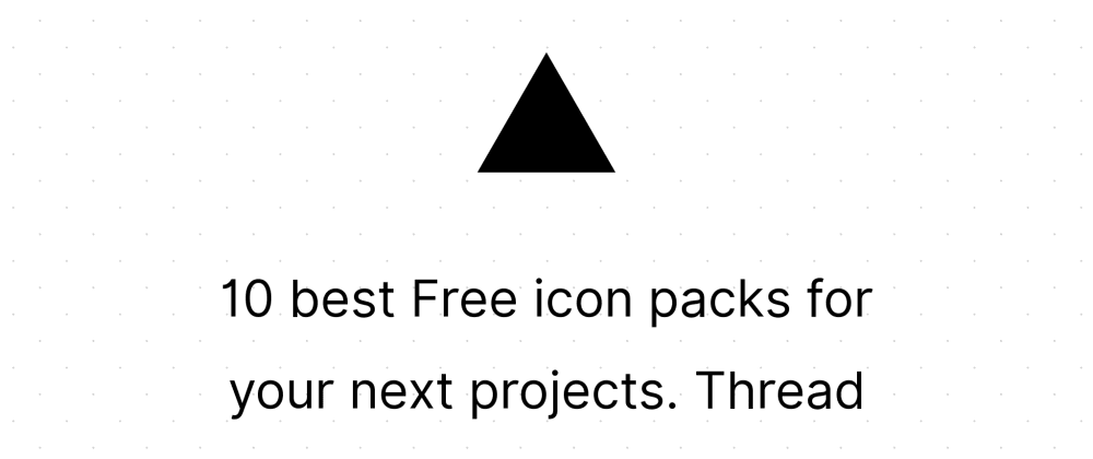 Cover image for 10 best Free icon packs for your next projects.  Thread 🧵👇