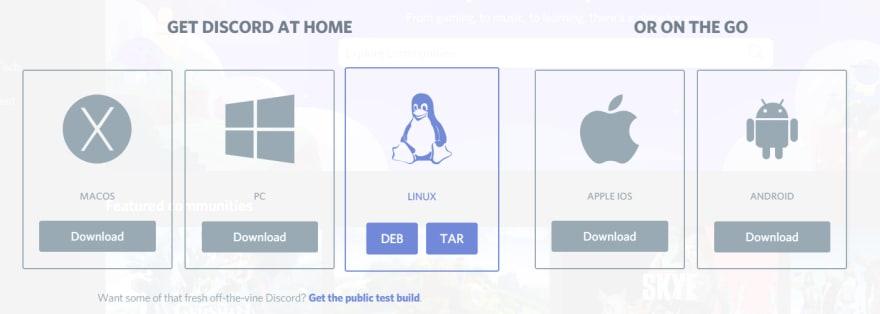 Download apps screen