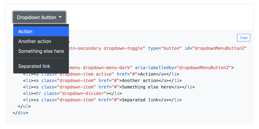 Bootstrap 5 Dark Dropdown