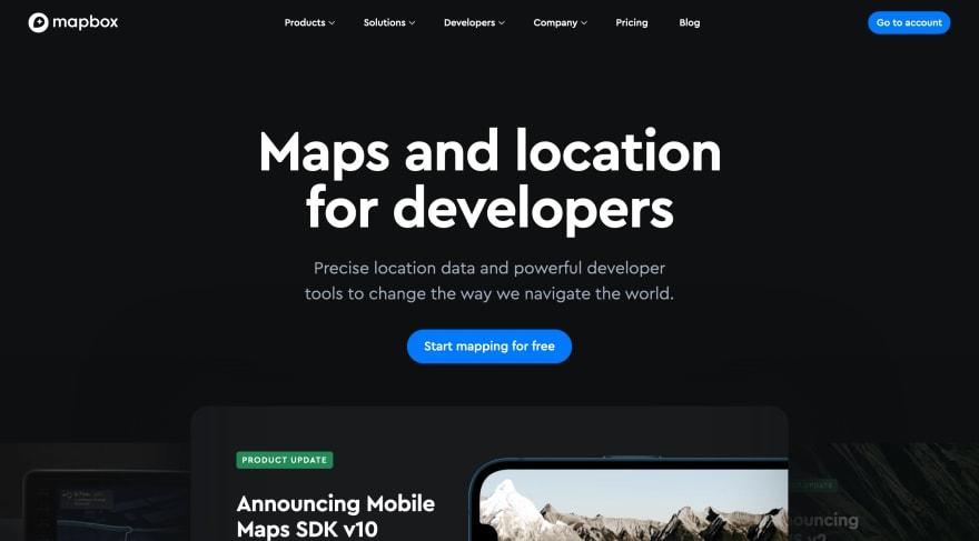 mapbox website