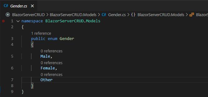 gender enum