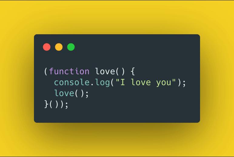 Code screenshot, infinite loop javascript