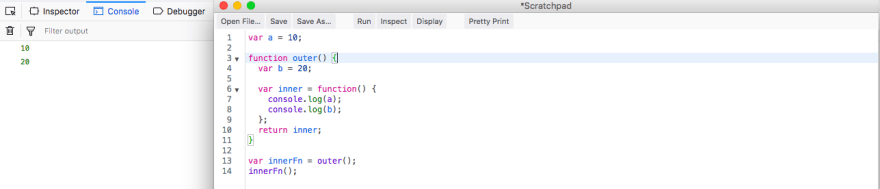 Refactoring inner outer example