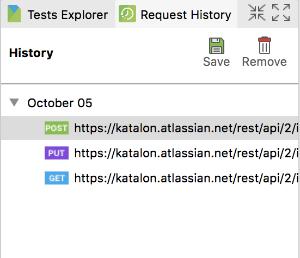 Request History in Katalon Studio 5.8