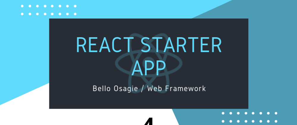 Cover image for React Starter App
