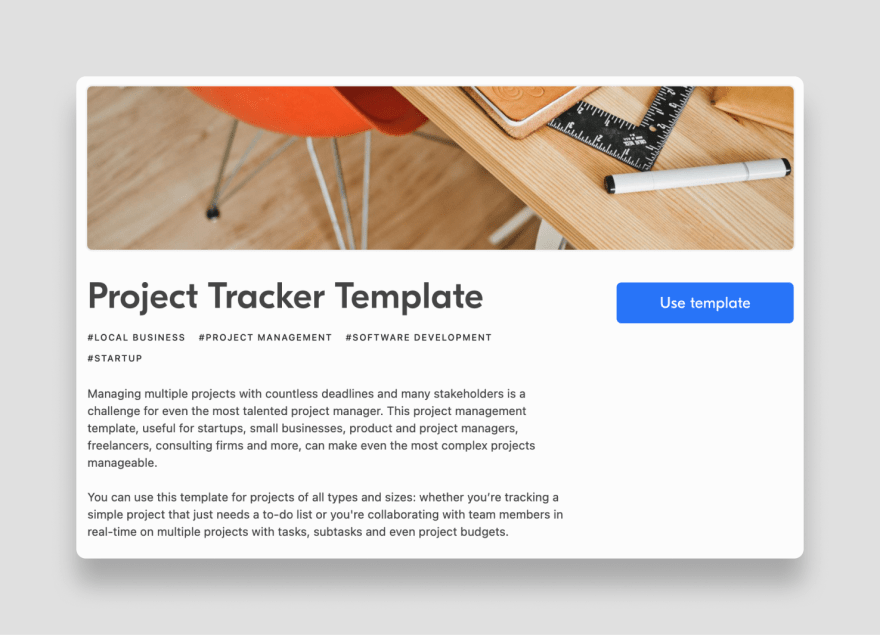 Airtable project tracker base