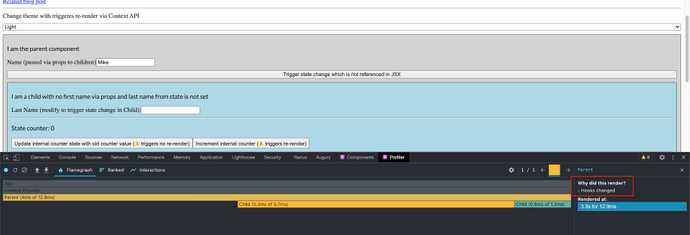 React DevTools Profiler Result