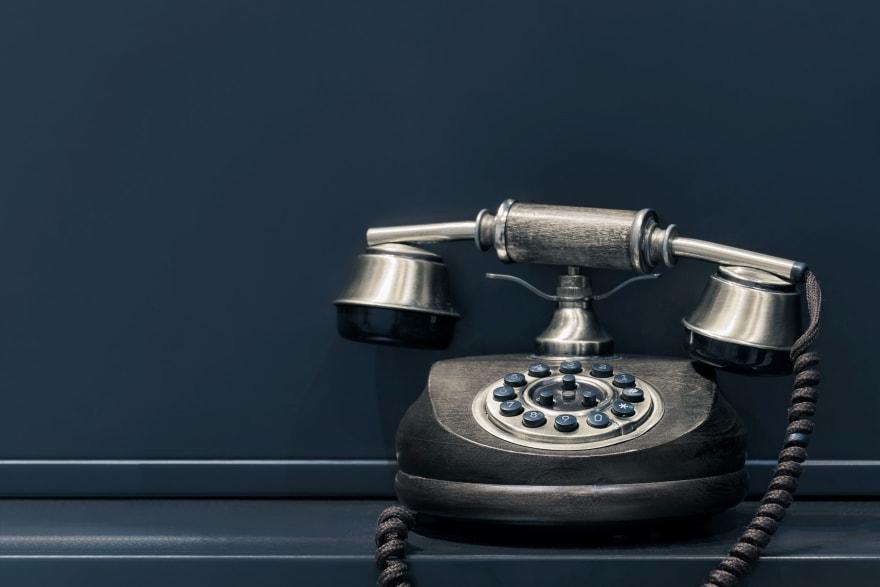 Vintage-style telephone