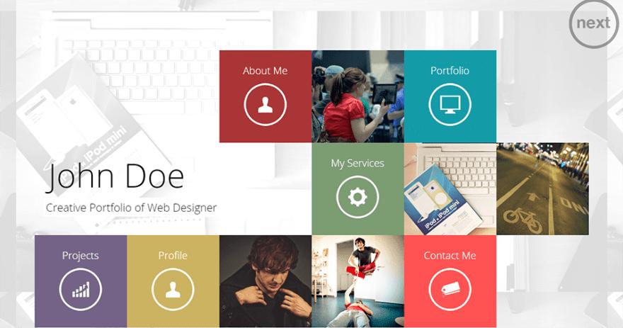 Alternative website design