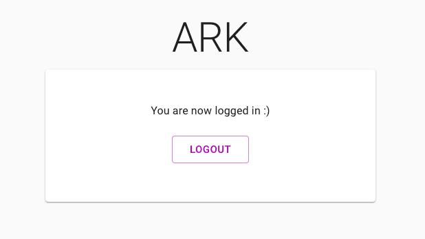 logged-in screen