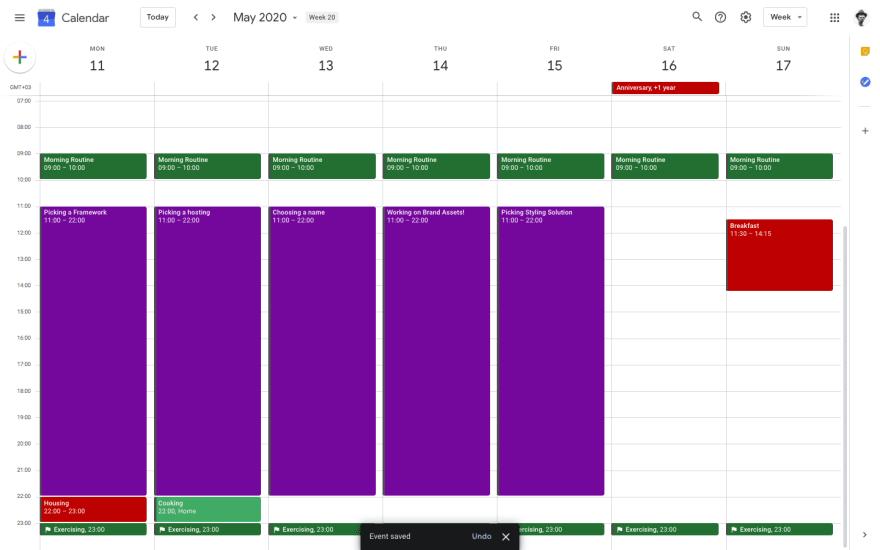 Schedule, bad