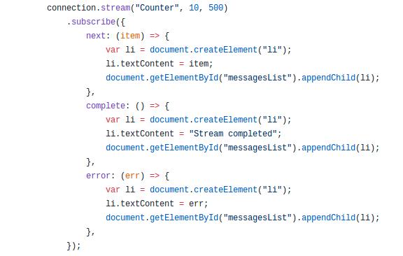 SignalR core python client (III): Streamming - DEV Community