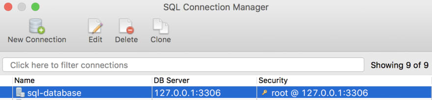 Open SQL Connection Manager