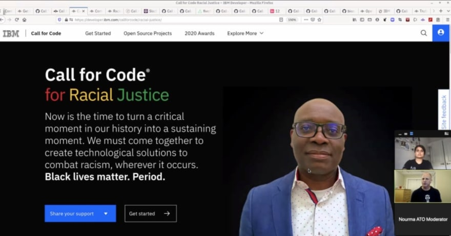 Pooja Mistry co-presents a Call for Code webinar