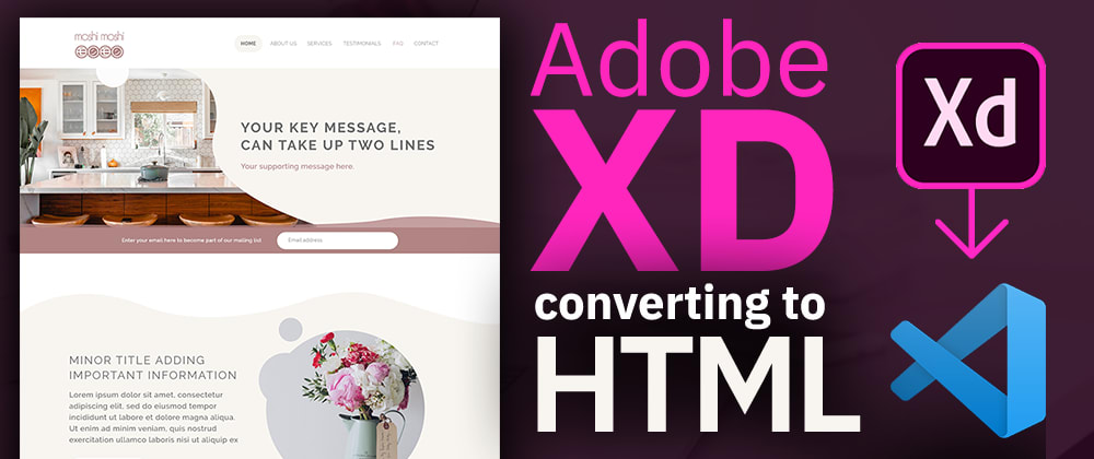 Cover image for Adobe XD to HTML Full Process